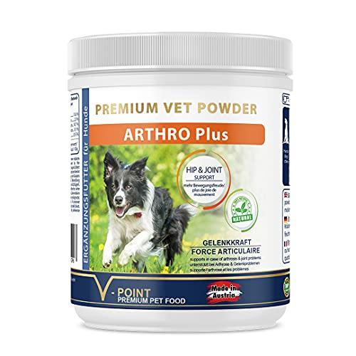 V-POINT ARTHRO Plus für Hunde zur Vorbeugung Gelenkschmerzen Premium Kräuterpulver Kuranwendung mit...
