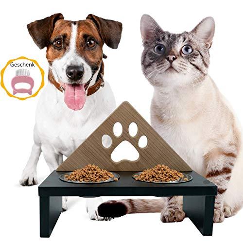 Futternapf Katze und Hunde Futterstation - Katzen Fressnapf - Katzen Futternapf Hunde Wassernapf -...