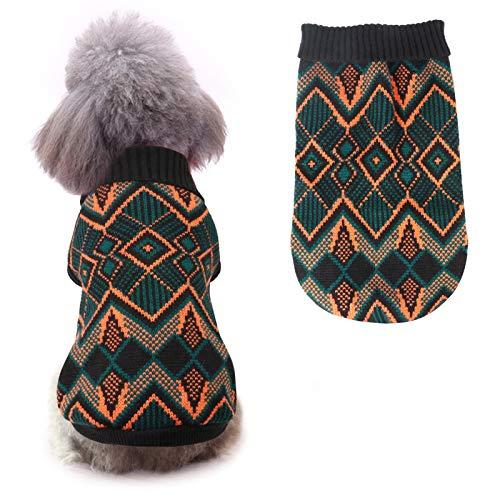 Idepet Haustier Katze Hund Pullover, Winter Hund Mantel Jacke Weste Warmer Haustier Pullover Pullover...