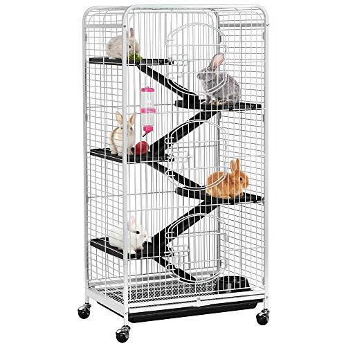 Yahee Nagervoliere Käfig für Erwachsene Ratten Kaninchen Frettchen Chinchillas 64 x 43,7 x 131,2 cm...