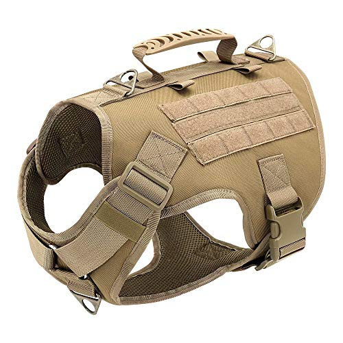 Didog Tactical Dog Harness, No Pull Dog Vest Harness with Handle,Easy Control & Escape Proof for Small...