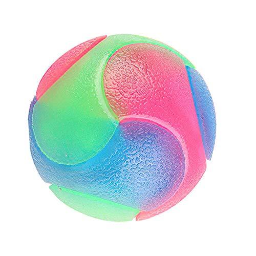 1Pc Pet Bunte Gummibälle, Leuchtende Bälle, Zahnreinigung Glitzerndes Spielzeug, Hunde Haltbare...