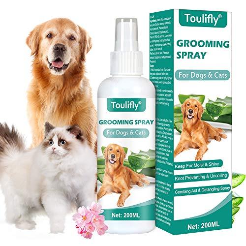 Toulifly Entwirrungsspray, Pflegespray für Hunde & Katzen, Kämmhilfe Zerstäuber, Fellspray, Fellpflege...