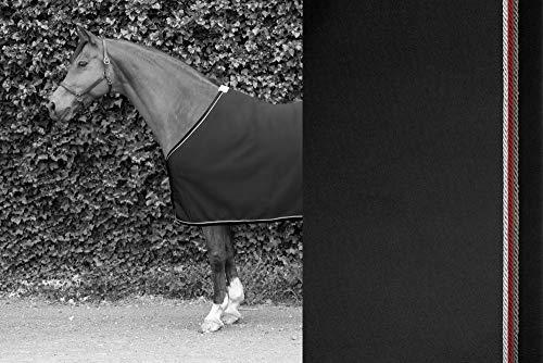 TIM´S Equestrian Sweat Rug Black mit Anthrazit, Bordeaux, Silber Kordeln abschwitzdecke Größen Pferd...