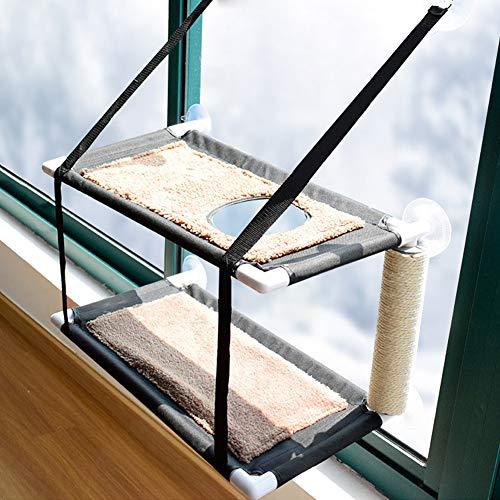 XianghuangTechnology Katzen-Fenster-Hängematte Sitzstange Katzenbett Kitty Sunny Sitz Doppellagige...