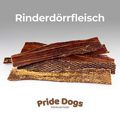 PrideDogs Rinderdörrfleisch 30 cm 1000g der Premium Kausnack für Ihren Hund | 100% Rind aus Deutscher...