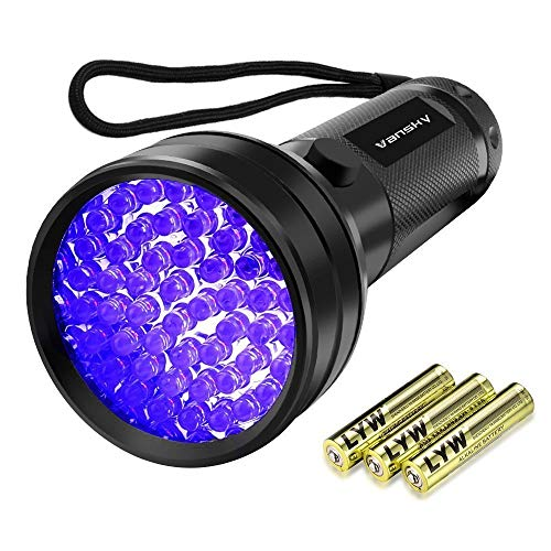 Vansky UV Schwarzlicht Taschenlampe mit 51 LEDs | Haustiere Urin-Detektor für Eingetrocknete Flecken...