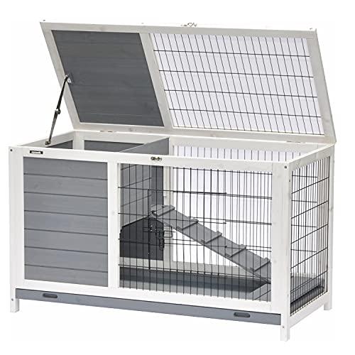 nanook Kleintierstall Hamsterkäfig Meerschweinchenkäfig - 100 x 50 x 62 cm - verschließbar - mit Dach-...