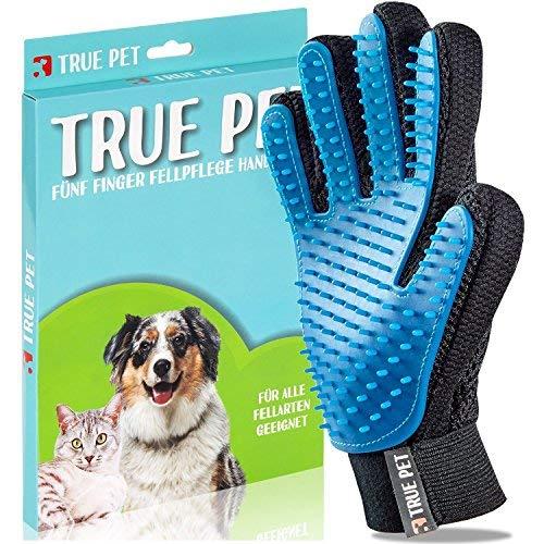 TruePet Fellpflegehandschuh für Hunde & Katzen – Tierhaarbürste ideal zur Fellpflege für langes &...