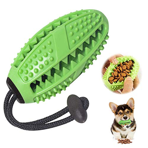 SharpCost Zahnbürsten-Stick, Ball Leckerli-Spender für Hunde Welpen-Zahnpflege, Bürsten und...