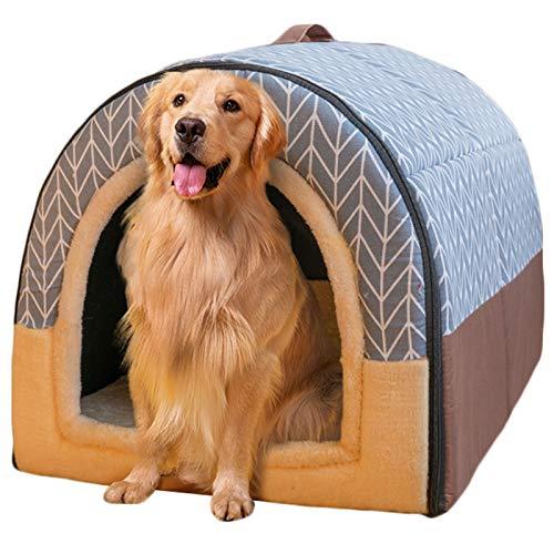 Haustierbett, Großer Hund Hundehütte Winter Warm halten Waschbar Innen Luxus Hundehütte Vier...