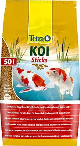 Tetra Pond Koi Sticks – Koifutter für farbenprächtige Fische und eine verbesserte Wasserqualität, 50...