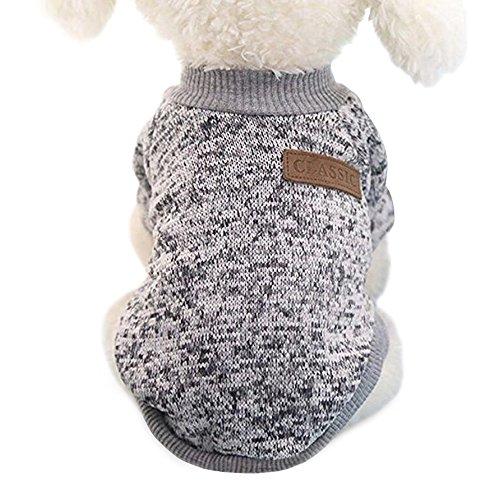 Idepet Haustier Katze Hund Pullover, warme Hund Pullover Cat Kleidung, Fleece Haustier Mantel für Welpen...