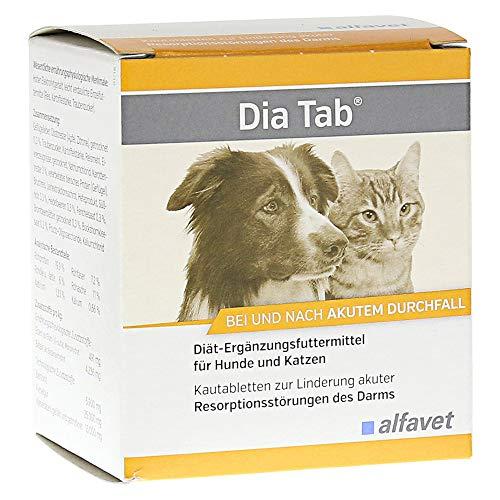 Alfavet Dia Tab Diät-Ergänzungsfuttermittel Kautabletten zur Linderung akuter Resorptionsstörungen des...