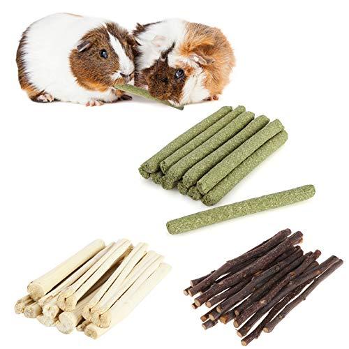 SHINROAD Hamster-/Kaninchen-Kauspielzeug, Backenzahn-Stick (natürlicher Apfel-Stick, Timothy Hay-Stick,...