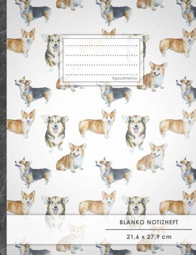 "Blanko Notizbuch • A4-Format, 100+ Seiten, Soft Cover, Register, ""Niedliche Hunde"" • Original..."