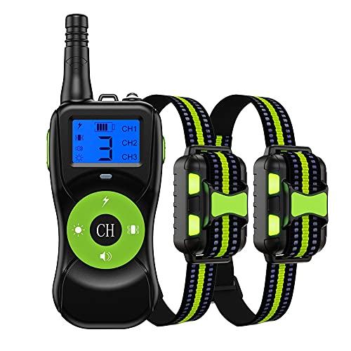 ESHOO Verbessertes Antibell Halsband mit 800M Fernbedienung,USB Wiederaufladbares...