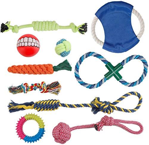 PETTOM Hundespielzeug, Interaktives Spielzeug Seil, Welpenspielzeug Welpen Kauen Spielzeug Hunde Zahnen...