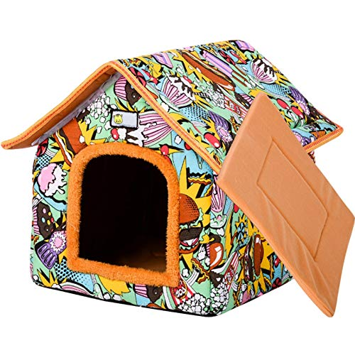 Yoouo Hundehöhle,hundehaus,Katzenhöhle Katzen Haus Katzenbett Haustier Pet Nest Schlafsack 2 In 1...