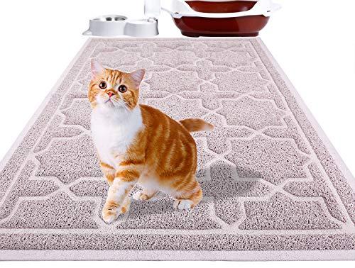 Yimobra Katzenstreu Matte, 90 x 60 cm, Wasserdichte Katzenklomatte Rutschfest Katzenklo Unterleger Matte,...