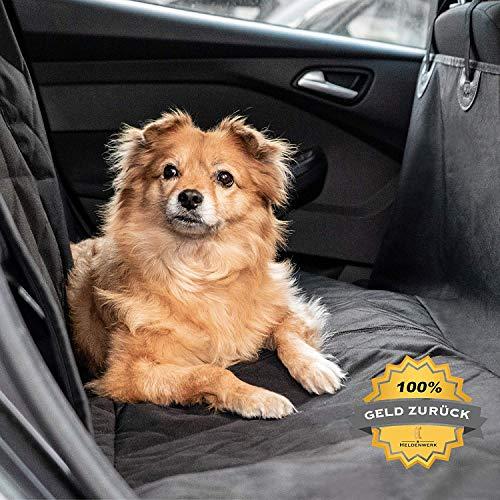Heldenwerk® Autoschondecke Hund Rücksitz - Hundedecke für Auto Rückbank wasserdicht - Schutz...