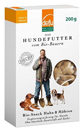 defu Bio Snack Huhn und Möhren 200 g, 3er Pack (3 x 200 g)