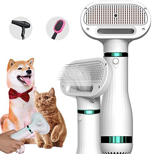 Anonry Hundefön Blow Dryer Brush, 2 in 1 Pflege-Haartrockner mit Bürste für Hunde und Katzen,...