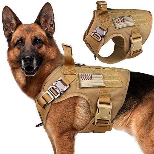 Stpiatue Taktisches Hundegeschirr, ausbruchsicher, Militärweste, kein Ziehen, K9 Arbeitstraining,...