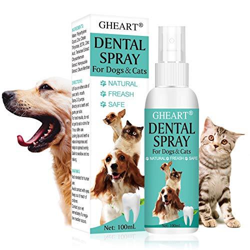 GHEART Zahnpflege Hunde, Dentalspray für Hunde und Katzen, zahnspray Hund, 100% Natürliche...