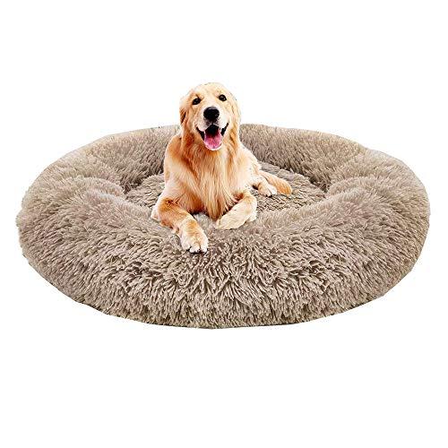 Monba Premium Orthopädisches Haustierbett für große und extra große Hunde,Donut Hundebett Weiches...