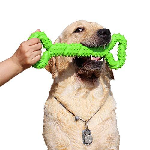 Robustes Hundespielzeug 13 Inch Knochen geformt Kauspielzeug aus Hartgummi mit Konvexes Design stark...