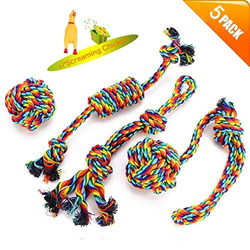 VIEWLON Hundespielzeug Seil,Tau Hund Spielzeug,Hund Seil Spielzeug Set,Interaktives Kauspielzeug...