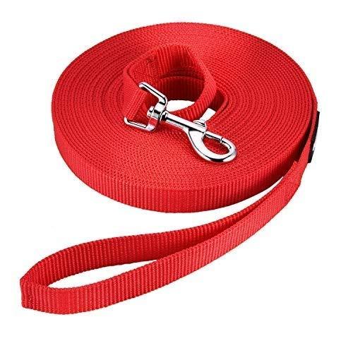 HAPPY HACHI Schleppleine Geflochten Hundeleine führen Lange Seil Nylon Gurtband Recall Ausbildungsleine...