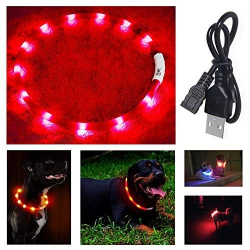 IEMY Hundehalsband Leuchtend, Haustier Sicherheit Leuchthalsband Hund, Längenverstellbarer LED...