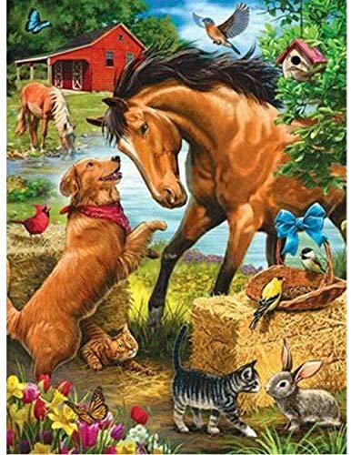 2000 Stück Holzpuzzles für Erwachsene-Hund und Pferd-Bilder auf der Dekoration Bilder Spielzeug lustige...