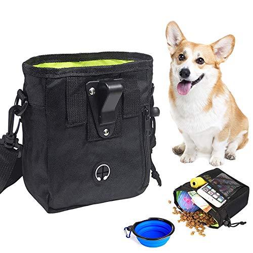 XIAQIU Futterbeutel für Hunde Hundefutter Taschen mit Falten Schüssel Leckerlibeutel mit Integriertem...