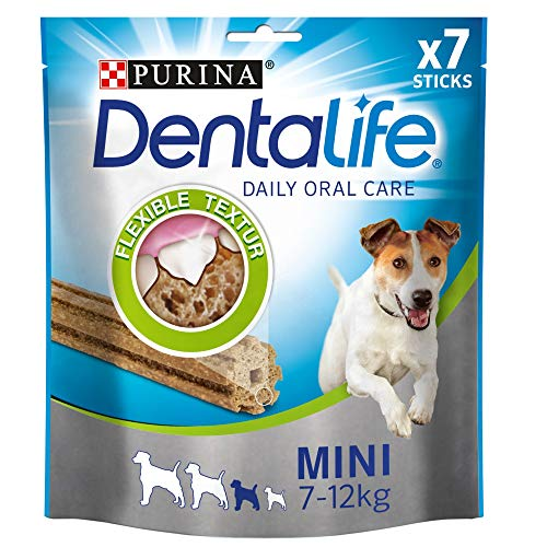 PURINA DENTALIFE Mini Hunde-Zahnpflege-Snacks, reduziert Zahnsteinbildung, Huhn, kleine Hunde, 5er Pack...