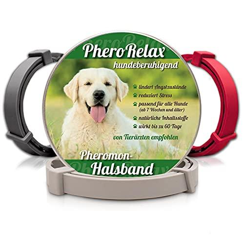 PheroRelax Hundehalsband mit Pheromonen I Wirkt 60Tage I Beruhigungshalsband für Hunde I Natürliches...