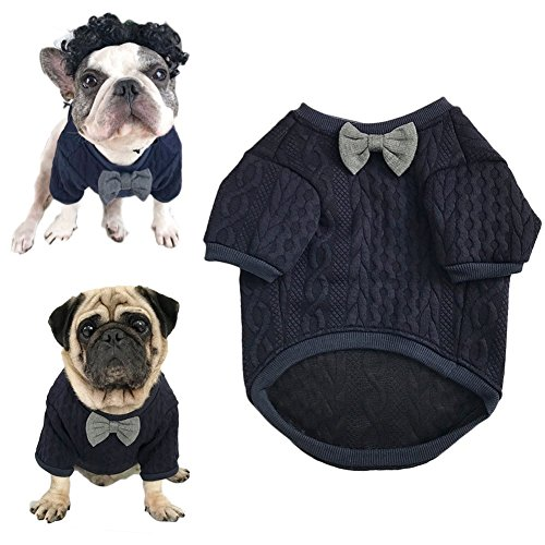 Meioro Hunde Fliege Pullover Haustier Kleidung Jacke Hunde Kleidung Cute Pet Kleidung Warm Dog Jumpers...