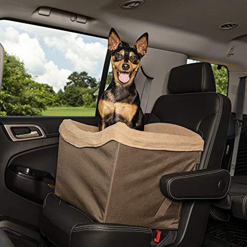 PetSafe Solvit Haustier Autositz, Sicher, Komfortable, für Hunde und Katzen, braun