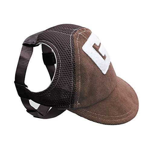 Lessbad Lifeunion Atmungsaktive Baseballkappe für Hunde und Welpen, mit Ohrlöchern für kleine und...