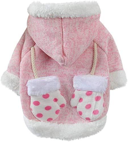 ccfgh Hundekleidung, Haustier-Pullover, Weihnachtspullover, Winter-Strickwaren, klassischer warmer...