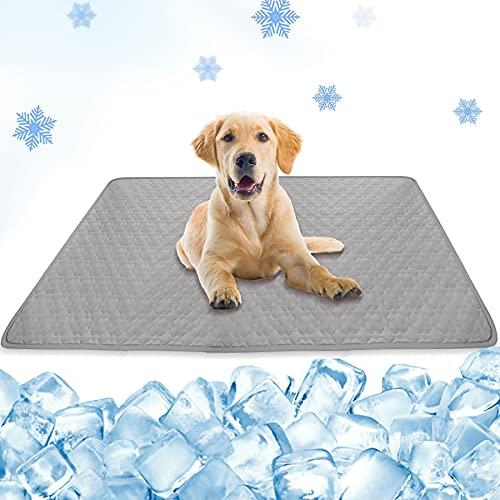 Sunshine smile Kühlmatte für Hunde, Kühlmatte Katze, 100*70cm Kühlmatte Selbstkühlend, Haustier...