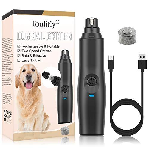 Krallenschleifer Hund, Krallenschleifer, Ultra Quiet Schnurlos Elektrischer Nagelschleifer für Hunde,...