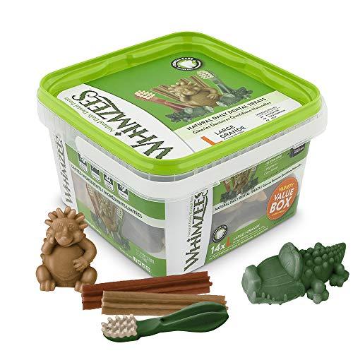 WHIMZEES Natürliche Getreidefreie Zahnpflegesnacks, Kaustangen für Hunde, Gemischte Vielfaltsbox, L, 14...
