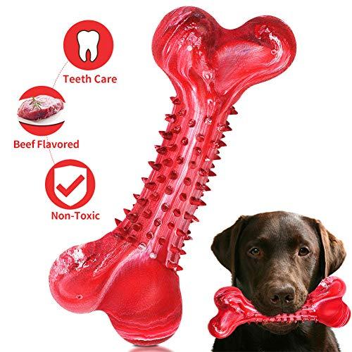 WenX Hundespielzeug Kauspielzeug unzerstörbares Hundespielzeug Zahnreinigung interaktives Spielzeug für...