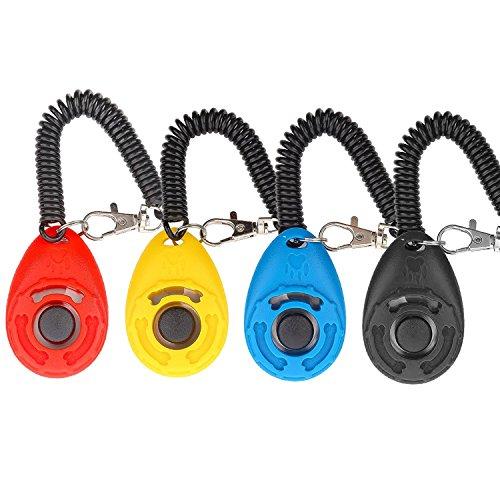 Hunde Klicker, [4 PCS, Multi-Color] Diyife Training Klicker mit Handschlaufe, Klicker mit Großem Knopf,...