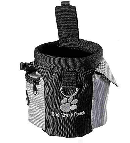 Futterbeutel für Hunde mit integriertem Poop-Beutelspender und verstellbarem Bund, leicht zu tragendes...