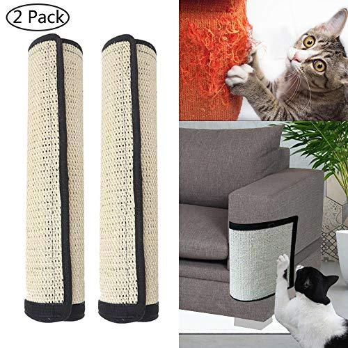 Womdee Möbelschutz von Katzen zum Kratzen, 2 Stück, 100% natürliches Sisal, für Katzen, Möbel,...