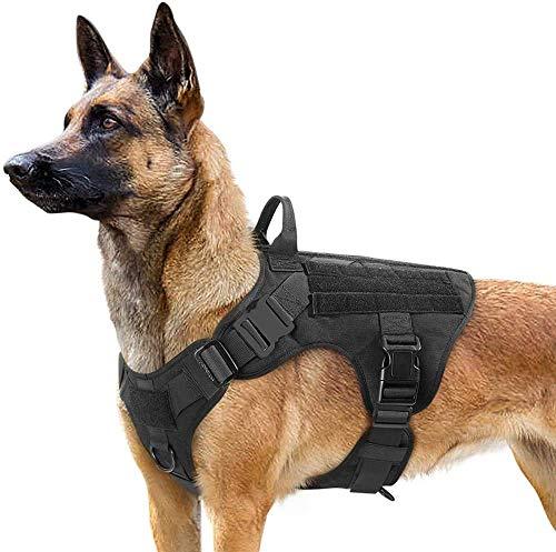 rabbitgoo Hundegeschirr Mittelgroße Hunde Taktische Hundegeschirrwest mit Griff No Pull...